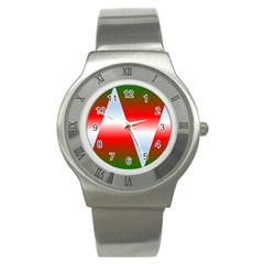 Christmas Pattern Stainless Steel Watch by Nexatart