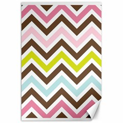 Chevrons Stripes Colors Background Canvas 20  X 30   by Nexatart