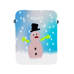 Christmas Snowman Apple Ipad 2/3/4 Protective Soft Cases by Nexatart