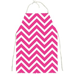 Chevrons Stripes Pink Background Full Print Aprons