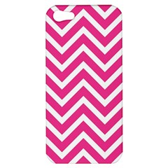 Chevrons Stripes Pink Background Apple Iphone 5 Hardshell Case