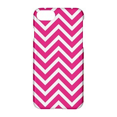 Chevrons Stripes Pink Background Apple Iphone 7 Hardshell Case
