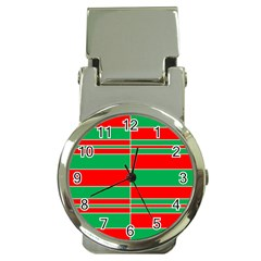 Christmas Colors Red Green Money Clip Watches by Nexatart