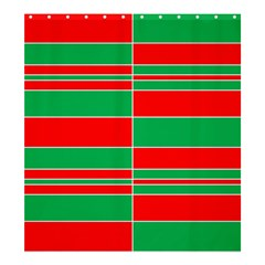 Christmas Colors Red Green Shower Curtain 66  X 72  (large)