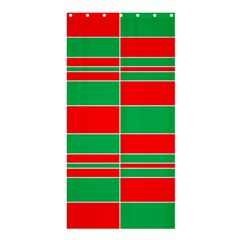 Christmas Colors Red Green Shower Curtain 36  X 72  (stall)  by Nexatart