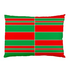 Christmas Colors Red Green Pillow Case (two Sides) by Nexatart