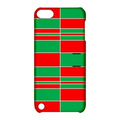 Christmas Colors Red Green Apple Ipod Touch 5 Hardshell Case With Stand by Nexatart