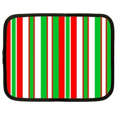 Christmas Holiday Stripes Red Green,white Netbook Case (xxl)  by Nexatart