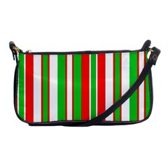 Christmas Holiday Stripes Red Green,white Shoulder Clutch Bags
