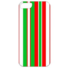Christmas Holiday Stripes Red Green,white Apple Iphone 5 Classic Hardshell Case by Nexatart