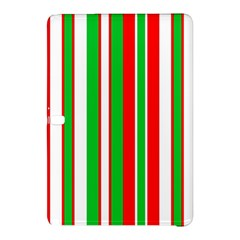 Christmas Holiday Stripes Red Green,white Samsung Galaxy Tab Pro 12 2 Hardshell Case by Nexatart