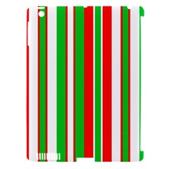 Christmas Holiday Stripes Red Green,white Apple Ipad 3/4 Hardshell Case (compatible With Smart Cover)