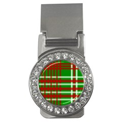 Christmas Colors Red Green White Money Clips (cz)  by Nexatart
