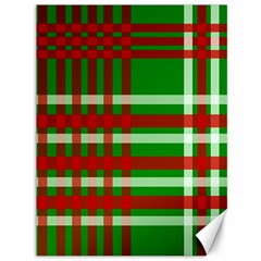 Christmas Colors Red Green White Canvas 36  X 48   by Nexatart
