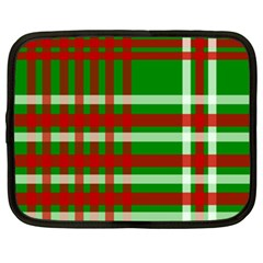 Christmas Colors Red Green White Netbook Case (xxl)
