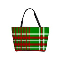Christmas Colors Red Green White Shoulder Handbags by Nexatart