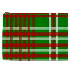 Christmas Colors Red Green White Cosmetic Bag (xxl)