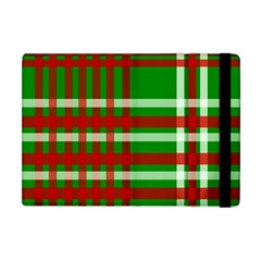 Christmas Colors Red Green White Apple Ipad Mini Flip Case by Nexatart