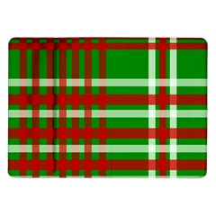Christmas Colors Red Green White Samsung Galaxy Tab 10 1  P7500 Flip Case by Nexatart