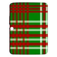 Christmas Colors Red Green White Samsung Galaxy Tab 3 (10 1 ) P5200 Hardshell Case  by Nexatart