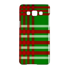 Christmas Colors Red Green White Samsung Galaxy A5 Hardshell Case  by Nexatart