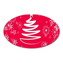 Christmas Tree Oval Magnet