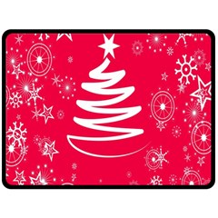 Christmas Tree Fleece Blanket (large)  by Nexatart