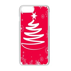 Christmas Tree Apple Iphone 7 Plus White Seamless Case by Nexatart