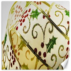 Christmas Ribbon Background Canvas 12  X 12   by Nexatart