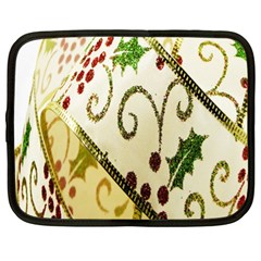 Christmas Ribbon Background Netbook Case (xl)  by Nexatart