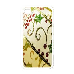 Christmas Ribbon Background Apple Iphone 4 Case (white) by Nexatart