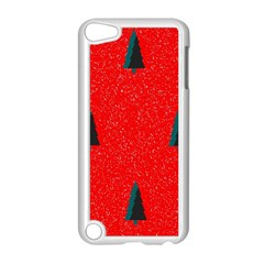Christmas Time Fir Trees Apple Ipod Touch 5 Case (white) by Nexatart
