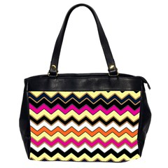 Colorful Chevron Pattern Stripes Office Handbags (2 Sides)  by Nexatart