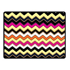 Colorful Chevron Pattern Stripes Double Sided Fleece Blanket (small)