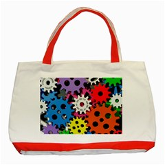 Colorful Toothed Wheels Classic Tote Bag (red)
