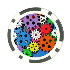 Colorful Toothed Wheels Poker Chip Card Guard (10 Pack) by Nexatart