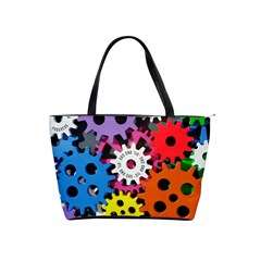 Colorful Toothed Wheels Shoulder Handbags by Nexatart