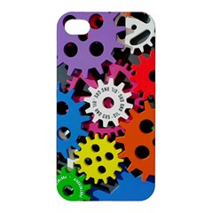 Colorful Toothed Wheels Apple Iphone 4/4s Hardshell Case by Nexatart