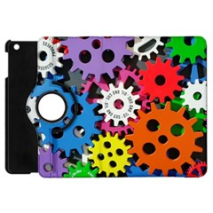 Colorful Toothed Wheels Apple Ipad Mini Flip 360 Case