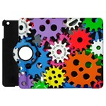 Colorful Toothed Wheels Apple iPad Mini Flip 360 Case Front