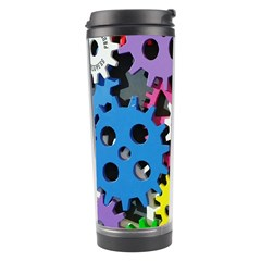 Colorful Toothed Wheels Travel Tumbler by Nexatart