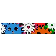 Colorful Toothed Wheels Flano Scarf (small) by Nexatart