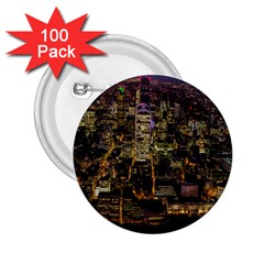 City Glass Architecture Windows 2 25  Buttons (100 Pack)