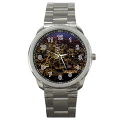 City Glass Architecture Windows Sport Metal Watch