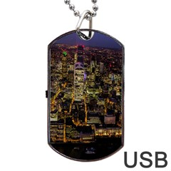 City Glass Architecture Windows Dog Tag Usb Flash (two Sides)