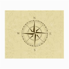 Compass Vintage South West East Small Glasses Cloth (2 Side) by Nexatart