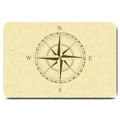 Compass Vintage South West East Large Doormat  by Nexatart