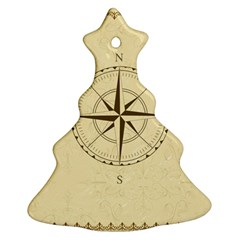 Compass Vintage South West East Ornament (christmas Tree)