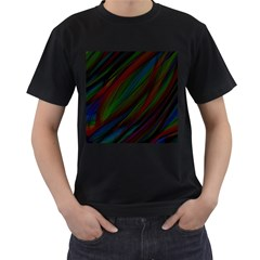 Dark Background Pattern Men s T-shirt (black) by Nexatart