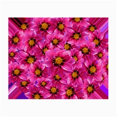 Dahlia Flowers Pink Garden Plant Small Glasses Cloth (2 Side)
